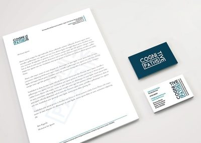 Business card and letterhead design for non profit