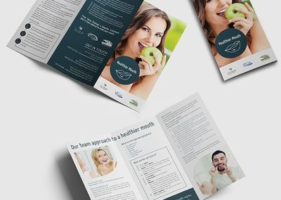 A4, trifold leaflet for healthier mouth