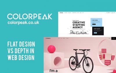 Flat design vs depth in web design