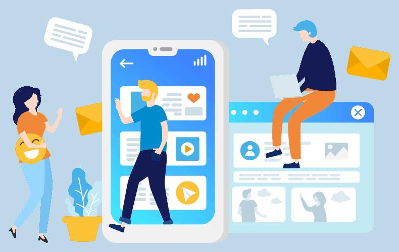 Simple navigation in 2021 website design trends for mobile
