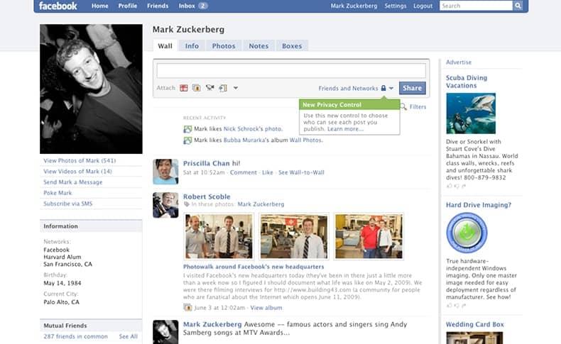 Facebook 2009