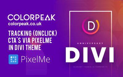 Tracking (onclick) CTA's via PixelMe in DIVI Theme