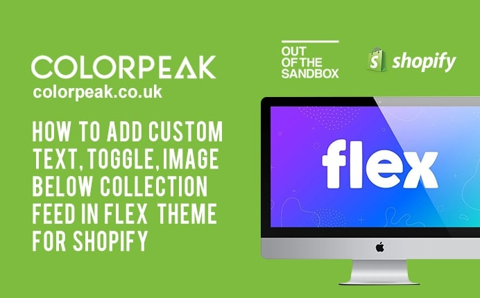 How to add text below Collection in Shopify Flex Theme by Out of the Sandbox?